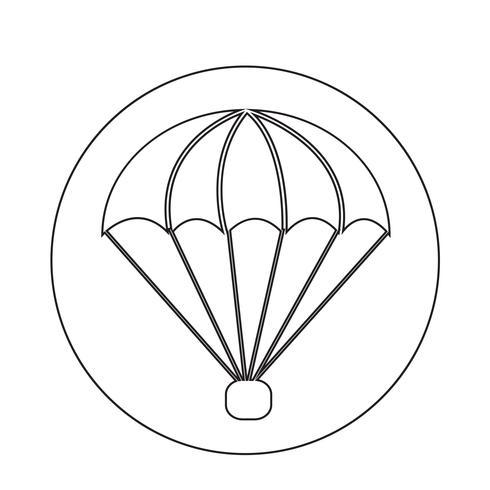 Fallschirm-Symbol