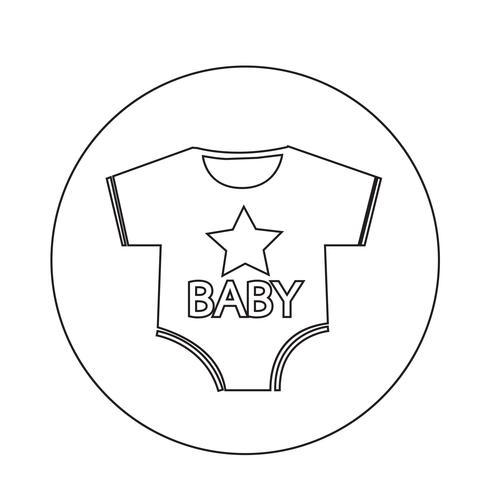 Ícono de ropa de bebé vector