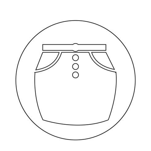 icône de la jupe vecteur