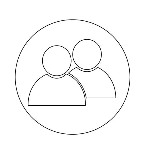 ícone de pessoa vetor