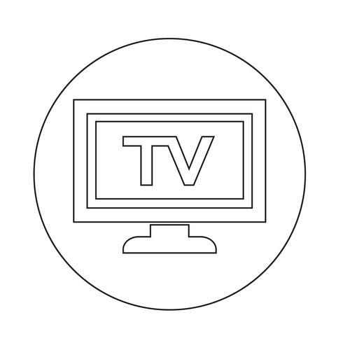 icône tv vecteur