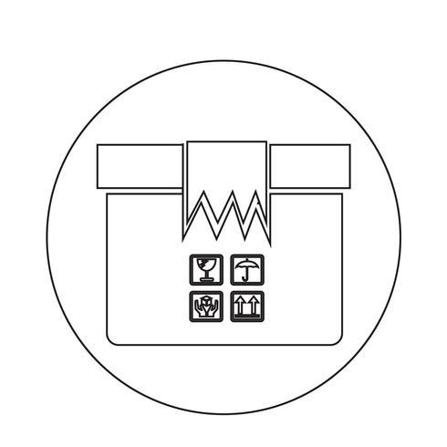 Icono de paquete de caja vector