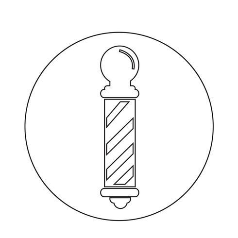 icona del palo del negozio di barbiere