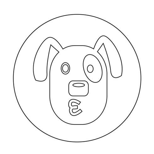 Icono de perro vector