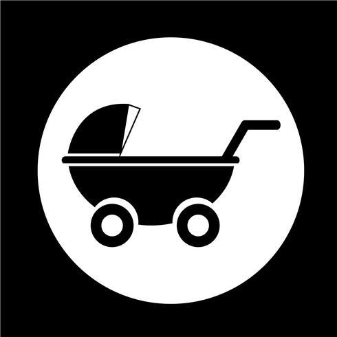 Icono de cochecitos de bebé. vector