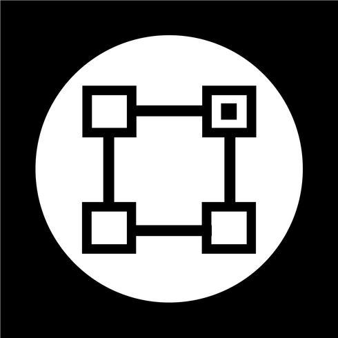 Ícone de vetor de unidade orgânica
