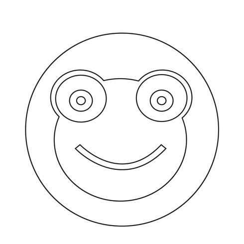 Icono de rana vector