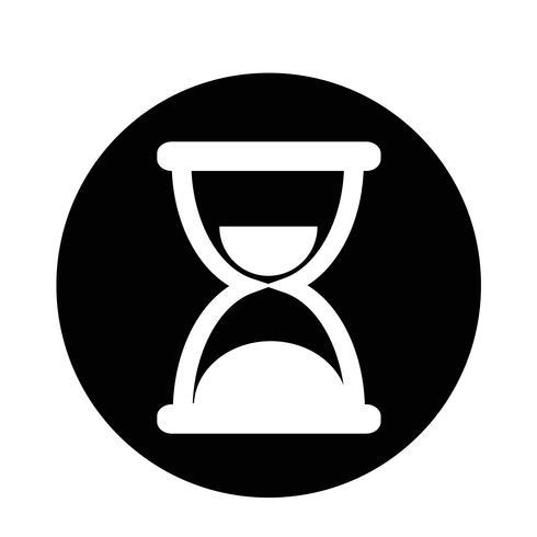 Icono de reloj de arena vector