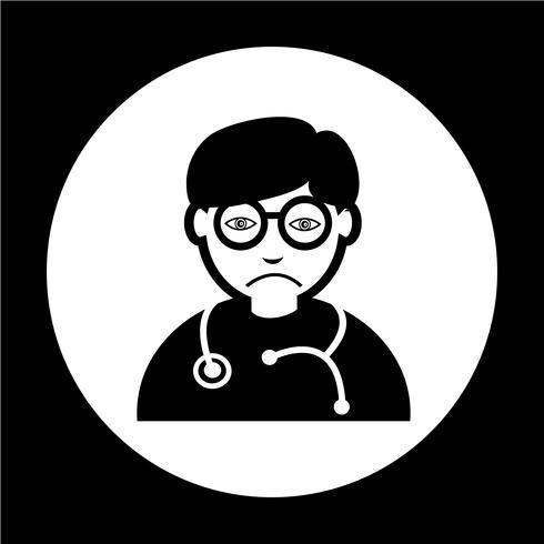 Docteur Icône vecteur