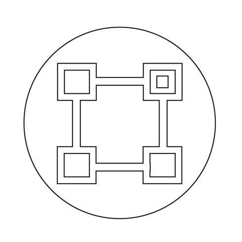 Icona di vettore di unità organizzativa