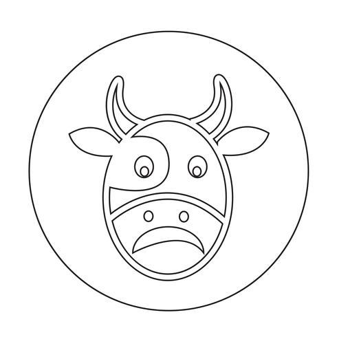 Kuh-Symbol vektor