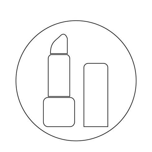 icono de lápiz labial vector
