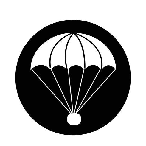 ícone de pára-quedas vetor