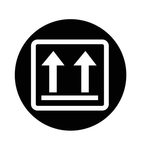 bräcklig ikon