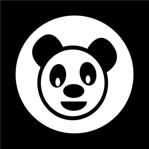 Panda bonito ícone vetor