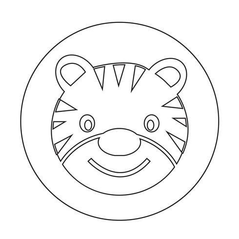 Ícone tigre vetor