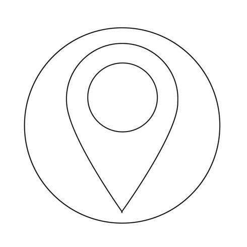 GPS-Standort Kartenzeigersymbol