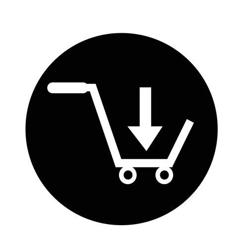 comprar carrinho de compras ícone vetor