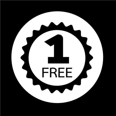 Köp en få en gratis ikon vektor