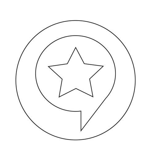 Ícone de estrela de bolha do discurso vetor