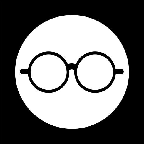 Icono de gafas vector