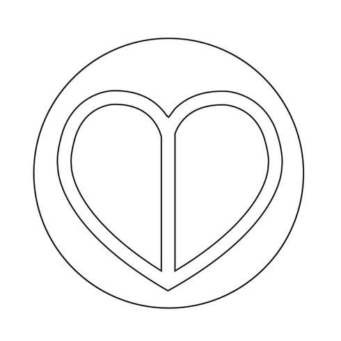Amor coração ícone vetor