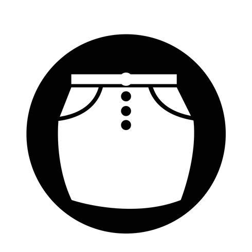 icono de falda
