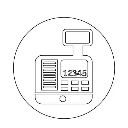 Icona del registratore di cassa vettore