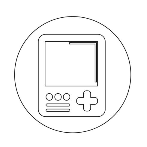 Handheld gameconsole pictogram