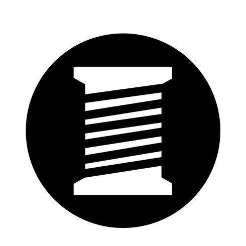 kleermaker draad spoel pictogram vector