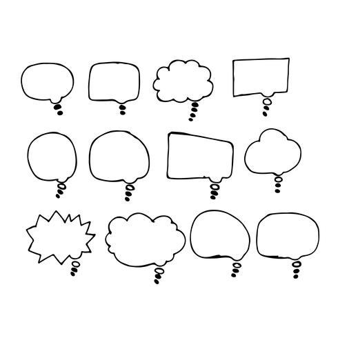 Toespraak bubble hand tekening pictogram