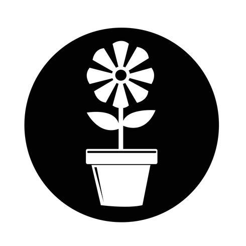 Icono de maceta vector