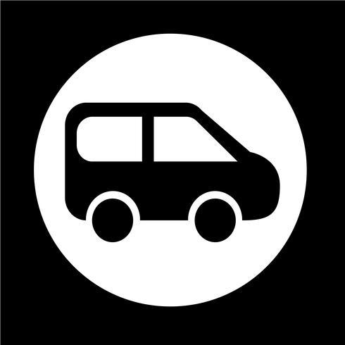 Icono de coche SUV vector
