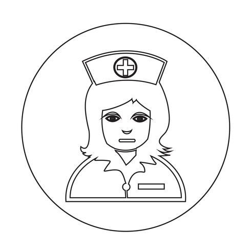 Icono de enfermera vector