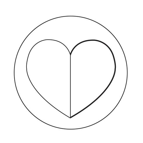Liebesherz-Symbol vektor