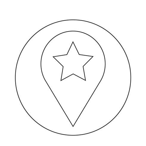 Icono de estrella de la burbuja del discurso vector