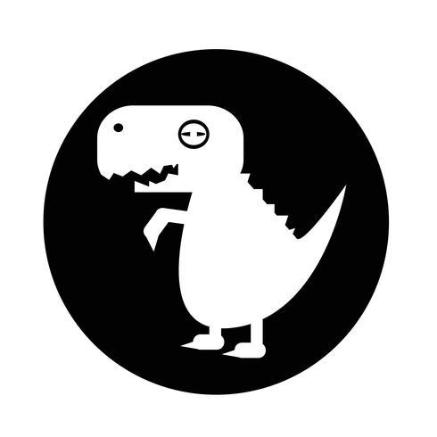 Ícone de dinossauro Tiranossauro vetor