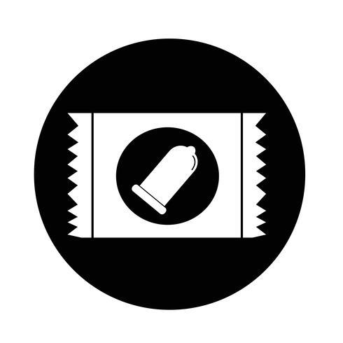 icône de préservatif vecteur