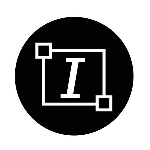 Cursieve tekst lettertype letterpictogram bewerken
