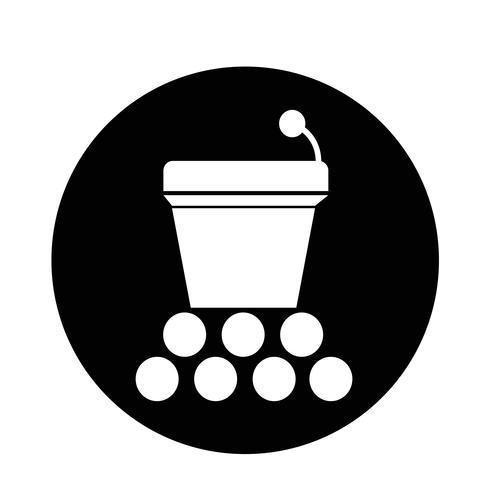 Icono de podio vector