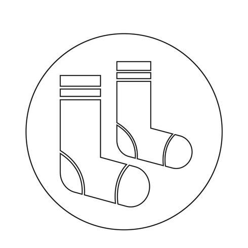 Icona di calzini vettore
