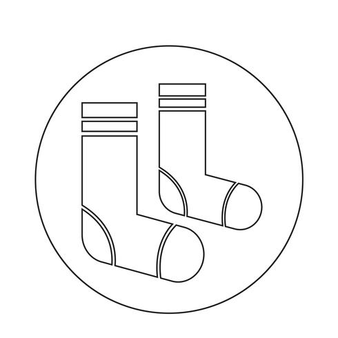 Chaussettes Icône