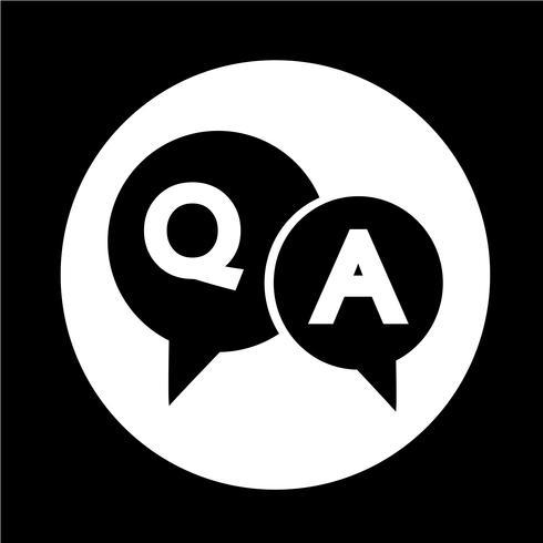 Icona di bolla di discorso di domanda e risposta