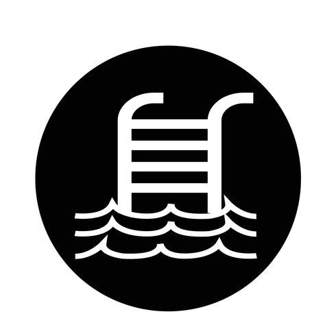 Icona della piscina vettore