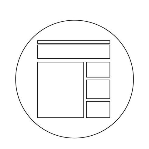 Ícone de protótipo vetor