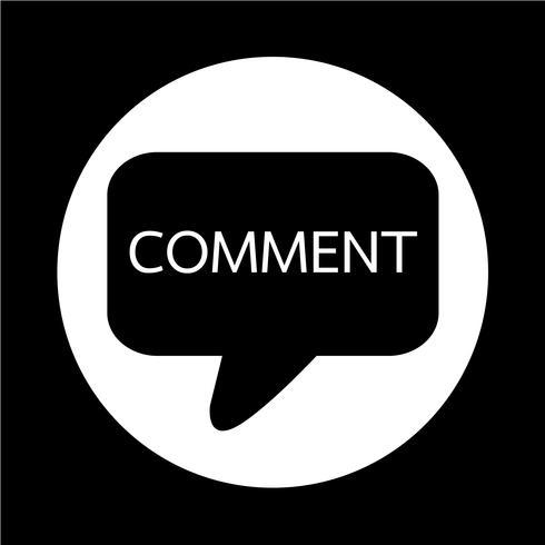 icono de comentario vector