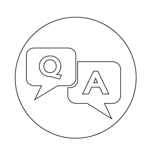 Icona domanda risposta vettore