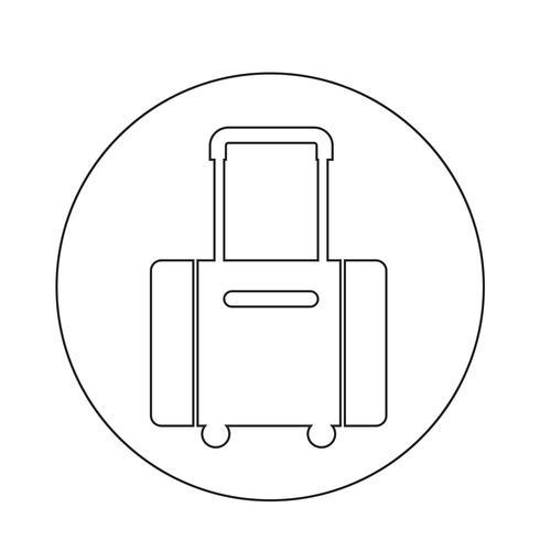 icona simbolo bagagli vettore