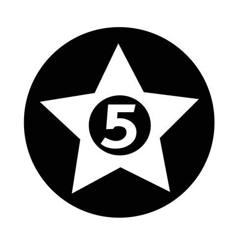 cinco estrelas Hotel Icon vetor