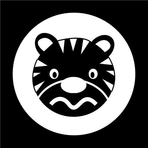 Icono de tigre vector